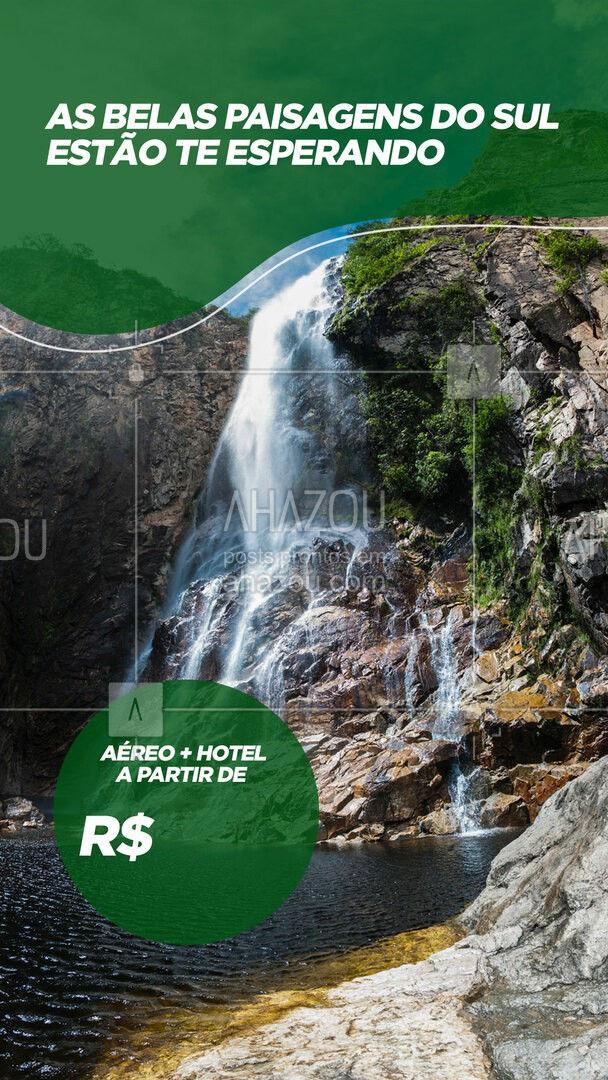 Fique de queixo caído com as belas paisagens da região Sul do Brasil. Aproveite nossas condições e pacotes para tirar essa viagem do papel. ? #viagens #agentedeviagens #viageminternacional #viagempelobrasil #viajar #viagem #trip #agenciadeviagens