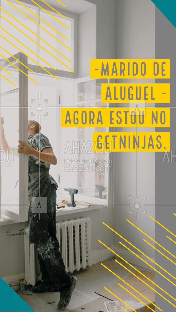 Seus problemas domésticos podem deixar de existir!  Contrate meus serviços pelo GetNinjas!  #AhazouServiços #getninjas  #manutençao #serviços  #maridodealuguel