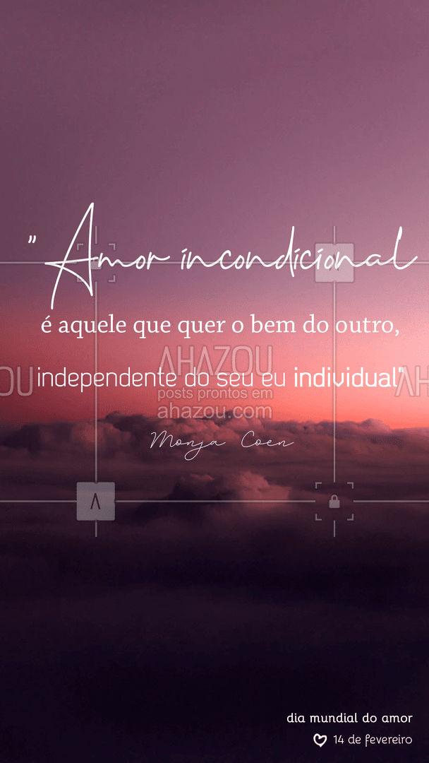 Amar é querer o bem!??? #ahazou #frasesmotivacionais #motivacionais #motivacional #frases #amor #diamundialdoamor #diadoamor #ahazou