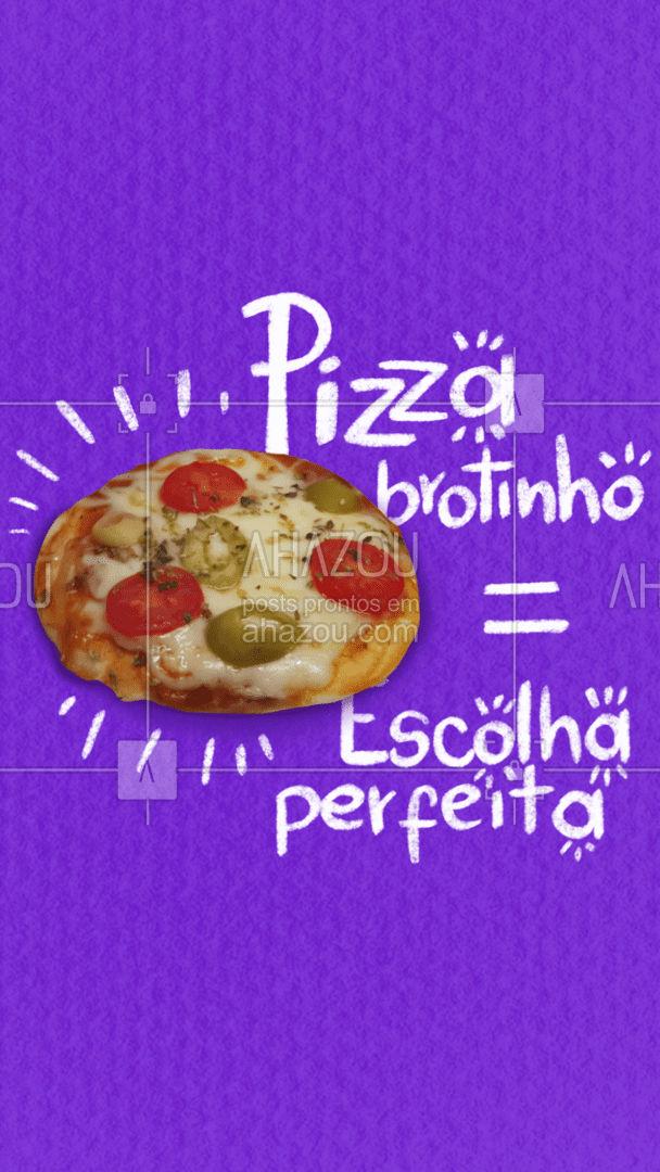 Não sabe o que pedir? Pizza brotinho é a melhor opção!  #ahazoutaste  #pizzaria #pizza #pizzalovers #pizzalife