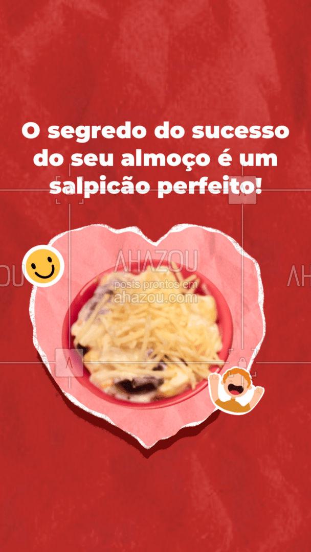 Entre em contato e encomende o seu! Seu almoço vai ser perfeito! #gastronomy #foodie #gastronomia #foodlover #culinaria #instafood #salpicão #salpicaodefrango #ahazoutaste