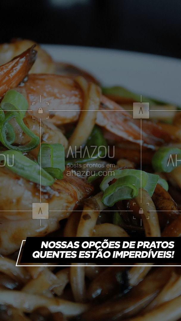 Não sabe o que vai pedir para comer? Que tal conferir nossas maravilhosas opções de pratos quentes? Aproveite e faça o seu pedido! #japa #japanesefood #comidajaponesa #ahazoutaste #pratosquentes #pratoquente