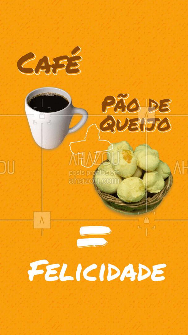 A melhor combinação que existe! Você concorda? Faça seu pedido. #pãodequeijo #café #felicidade #ahazoutaste #pãoquentinho #salgados