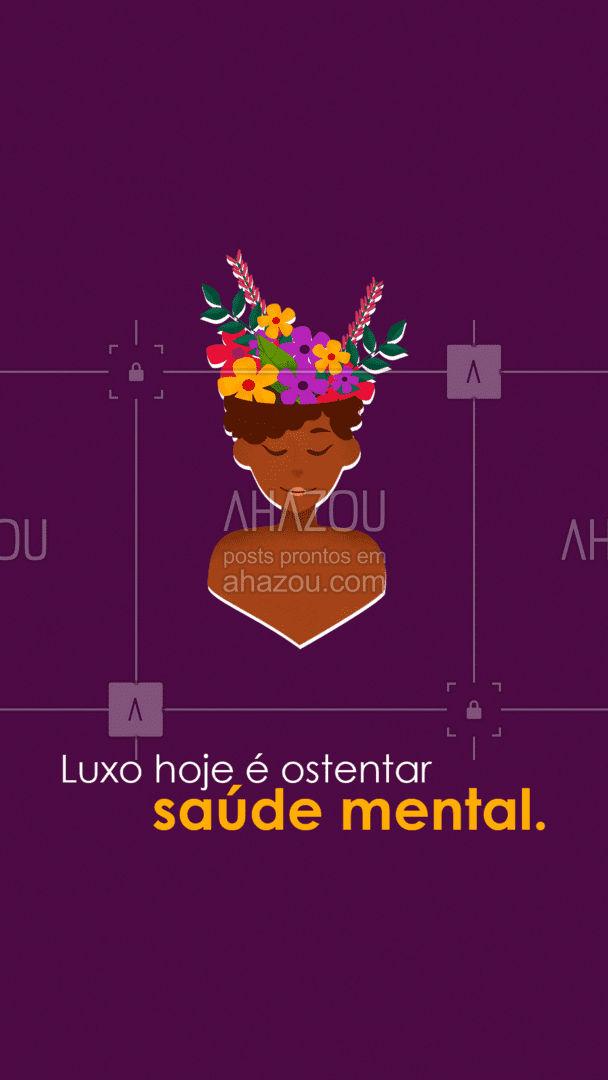 Sua saúde mental é mais importante do que o seu diploma, seu emprego e sua conta bancária. Cuide-se. #AhazouSaude  #mentalhealth #viverbem #headspace #saudemental