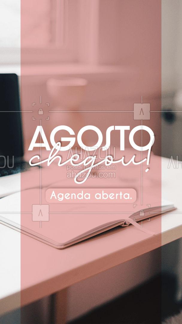 Estamos iniciando mais um mês! E nossa agenda já está aberta. Que tal reservar o seu horário?! Entre em contato comigo.  #ahazou #agendaaberta #agosto #agenda #contato #comunicado