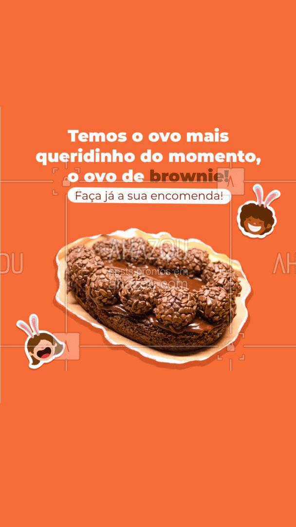 Crocante e saboroso, temos o queridinho do momento! Encomende já o seu ovo de brownie! #confeitaria #bolo #confeitariaartesanal #ahazoutaste #brownie #páscoa #ovodepascoa #ovodebrownie
