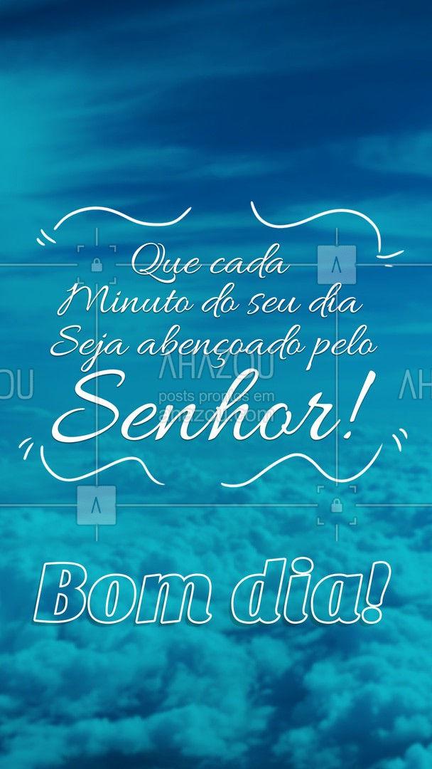Que as bençãos do Senhor caiam sobre ti! Tenha um belo e abençoado dia! ?? #AhazouFé #BomDia #VamosComFé #AFéSuperaTudo #BomDiaComFé #Fé #EspiritoSanto #Religião #Jesus #Cristo