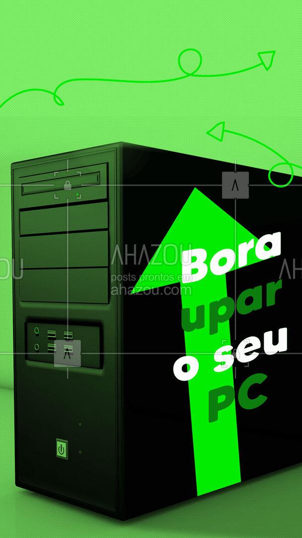 Já passou da hora de dar um upgrade no seu computador? Então aproveita, porque estamos com ótimos preços. #AhazouTec  #computador #pc