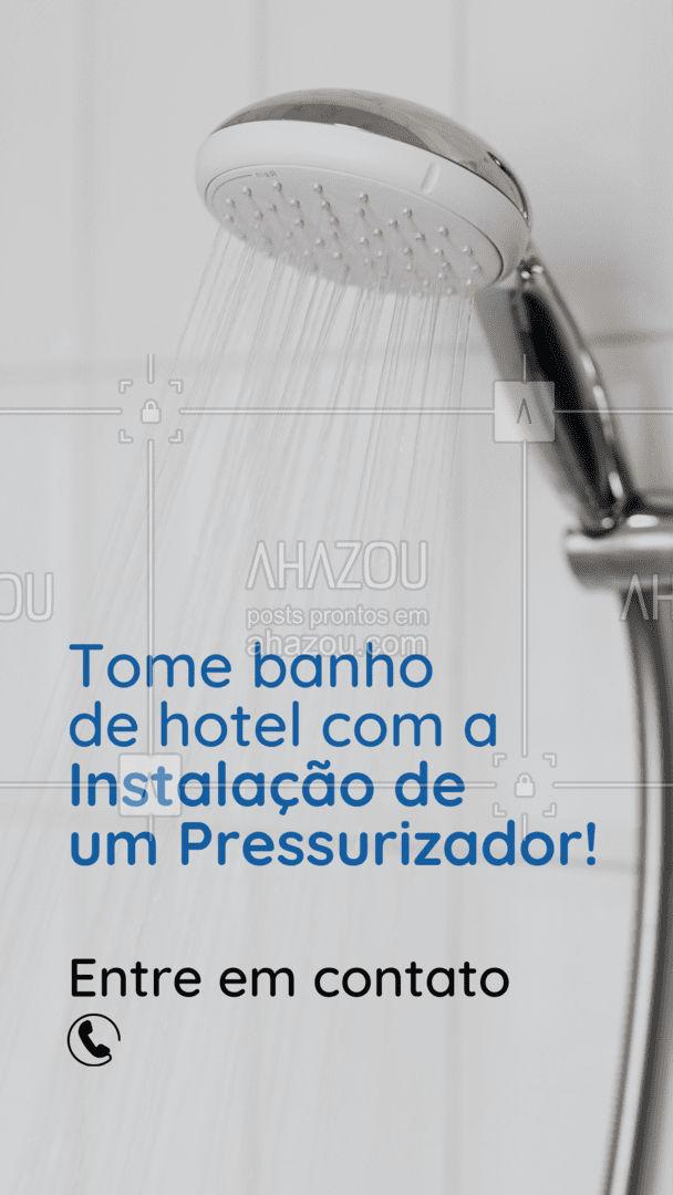 Já imaginou tomar aquele banho de hotel todo dia na sua casa? É só entrar em contato! ?(preencher) #AhazouServiços #pressurizador #banho #pressão #água #instalaçãodepressurizador #orçamento