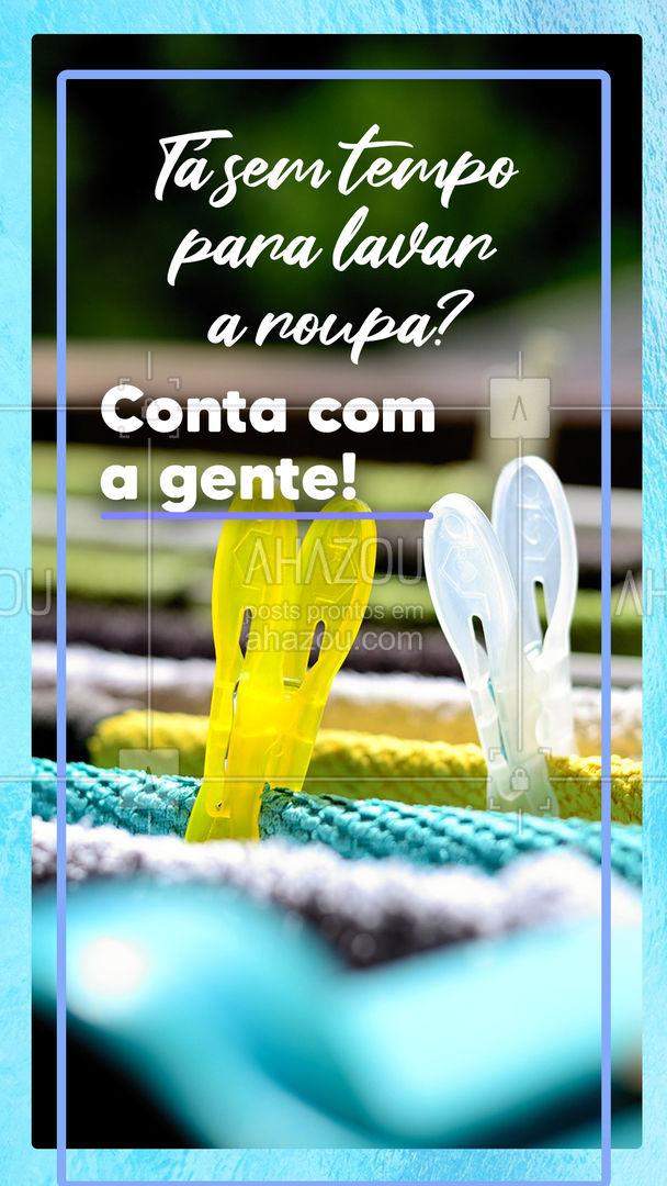 A gente vai cuidar bem das suas roupas, nós prometemos! ? #lavanderia #laundry #AhazouServiços #roupasuja #serviçosdecasa