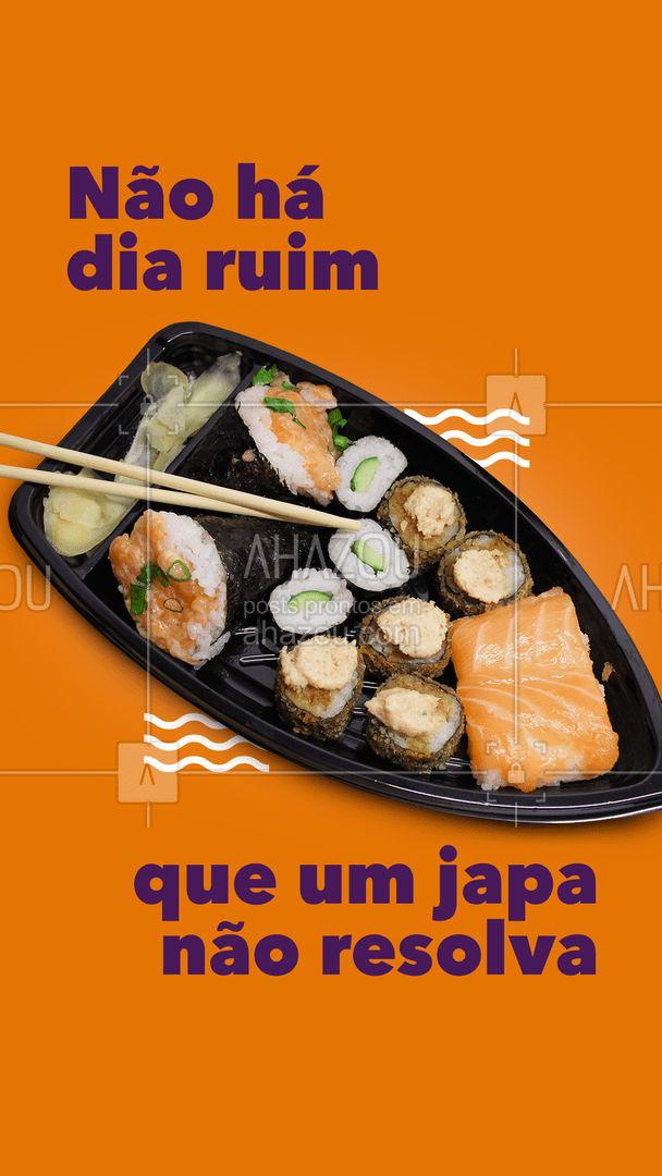 A felicidade tem nome: comida japonesa ?? #frase #engracado #ahazoutaste #comidajaponesa #sushilovers #japanesefood #japa