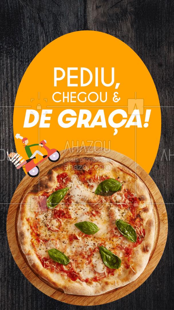 Peça sua pizza e receba gratuitamente no conforto da sua casa! Agora não tem desculpa para não pedir nosso delivery em ?  #ahazoutaste #pizzalife  #pizza  #pizzaria #entregagratis