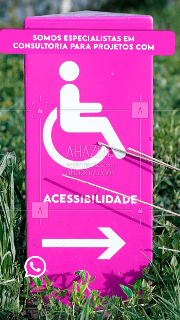 Todo mundo merece se locomover de maneira confortável e segura independente de suas limitações! Somos especialistas em consultoria de projetos com acessibilidade! Entre em contato e agende um horário! #arquitetura #arquiteto #projeto #AhazouDecora #AhazouArquitetura #acessibilidade #projetos