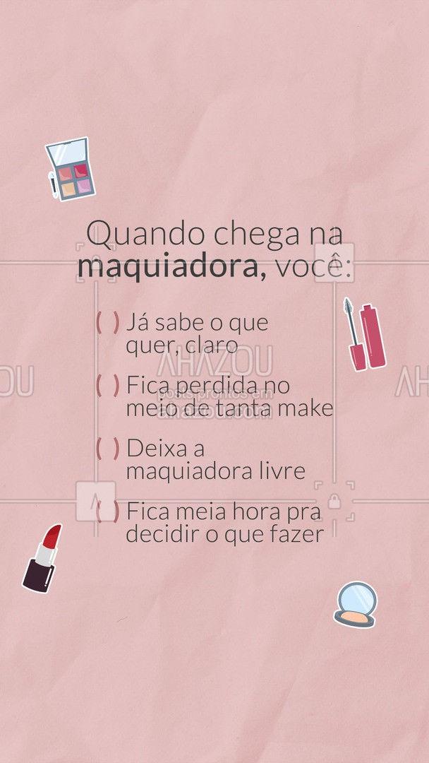 Sem mentir, comenta aqui quem é você! ??? #enquete #makeup #mua #AhazouBeauty #maquiadora #maquiagem #muabrazil #AhazouBeauty
