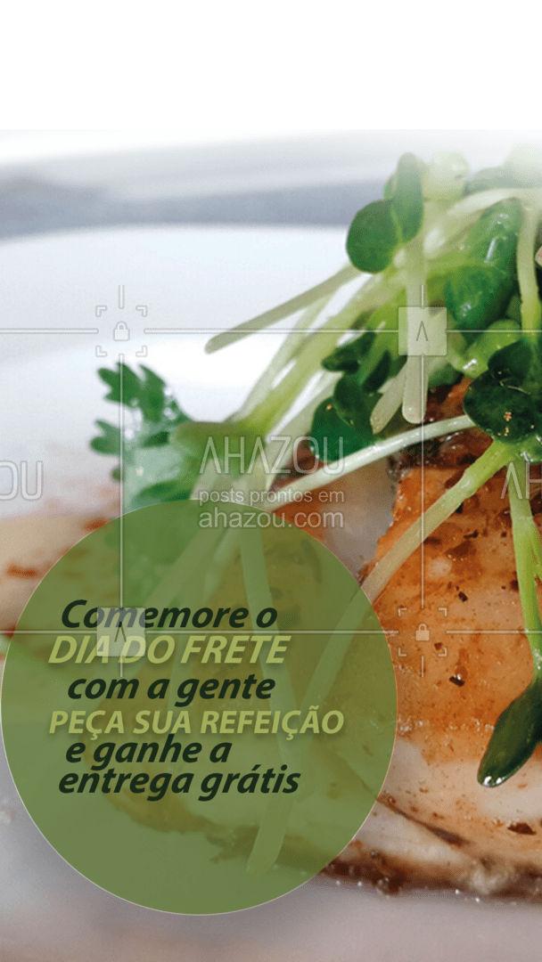 Só hoje você faz o seu pedido e a taxa de entrega é por nossa conta. Aproveite! #restaurante #alacarte #foodlovers #ahazoutaste #selfservice #pratofeiito #pf #promoçao #didofretegratis #ahazoutaste
