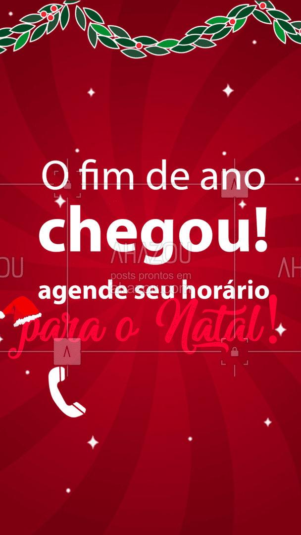 ? HO-HO-HO! Está chegando o Natal! Que tal agendar seu horário? ?  #AhazouBeauty    #estetica #beauty #beleza #natal #agenda