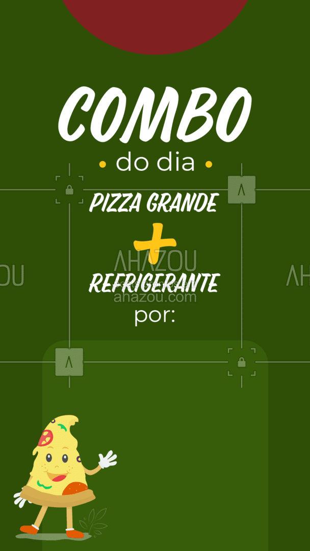 Foi aqui que pediram combo? Então aproveite essa promoção especial, faça o seu pedido! #pizzaria #pizza #pizzalife #ahazoutaste #pizzalovers #combo #promoçao #desconto