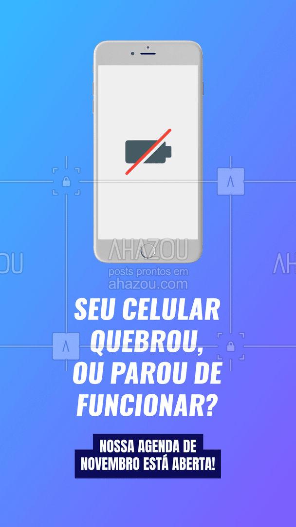 Não fique mais no sufoco, marque seu horário! #AhazouTec  #AssistenciaCelular #AssistenciaTecnica  #assistenciatecnica  #conserto  #consertodeeletronicos   #celulares