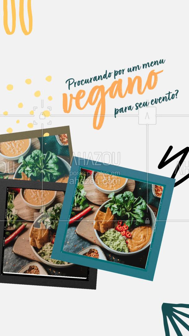 O melhor e mais saboroso menu vegano para o seu evento você encontra aqui Entre em contato! #eventos #foodie #buffet #ahazoutaste #comidavegana #comidavegetariana #opçoes #cardapio