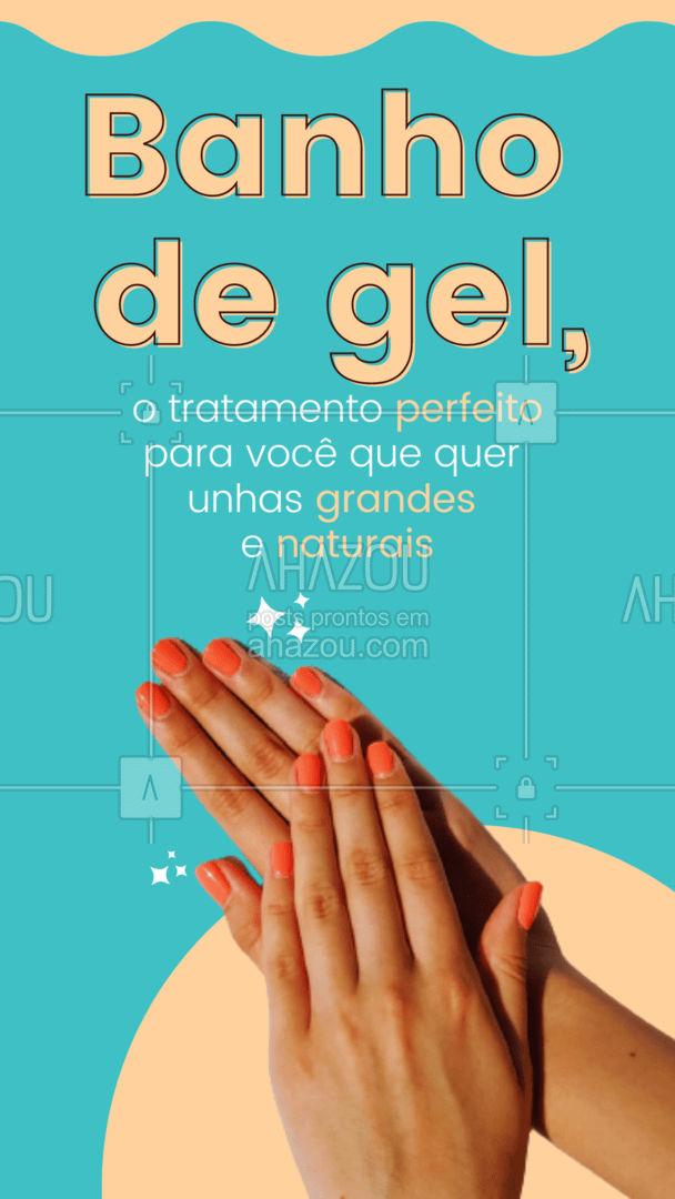Você já marcou o tratamento fortalecedor das suas unhas? Entre em contato e venha ter unhas naturais e saudáveis. 💅#banhodegel #AhazouBeauty #manicure #nails #beleza