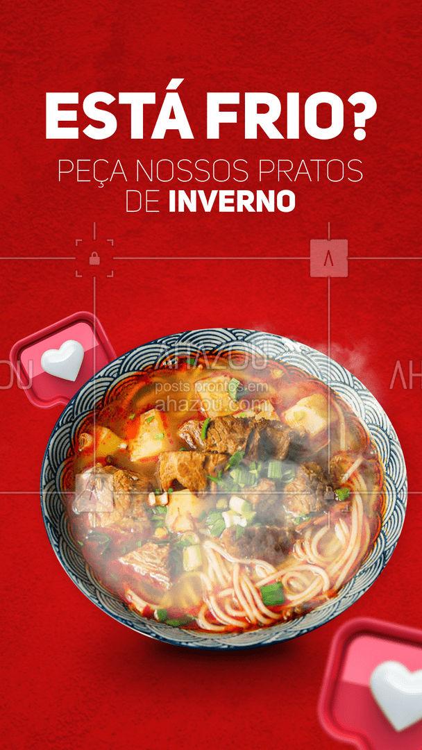 Não deixe o frio te desanimar! Temos pratos para o inverno que vão te deixar quentinho. Peça já o seu e aproveite essa época deliciosa do ano!  #ahazoutaste  #gastronomia #instafood #pratosquentes #inverno  #culinaria