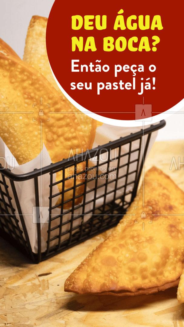 Não precisa ficar só na vontade! Entre em contato e peça já o seu! #eat #ilovefood #instafood #foodlovers #ahazoutaste #instafood #pastelaria #pastelrecheado #amopastel #pastel #delivery