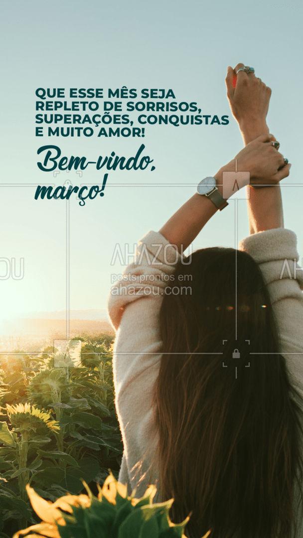 Que nesse mês você realize tudo que não foi possível no mês passado! Bem-vindo, março! ❤️#AhazouBeauty #estetica #beauty #beleza #março #bemvindomarço