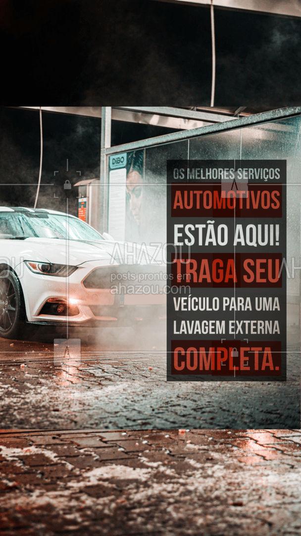 Cuide da estética do seu veículo! Traga-o para uma limpeza externa completinha e de qualidade! #AhazouAuto  #lavajato #carro #limpezadecarros #esteticaelavajato #servicoautomotivo #esteticaautomotiva