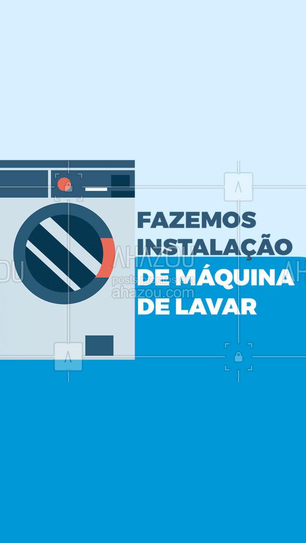 Sua máquina nova chegou e está procurando alguém para fazer a instalação? Entre em contato para que possamos fazer a instalação da sua máquina de lavar para você. #encanador #maquinadelavar #AhazouServiços #instalação