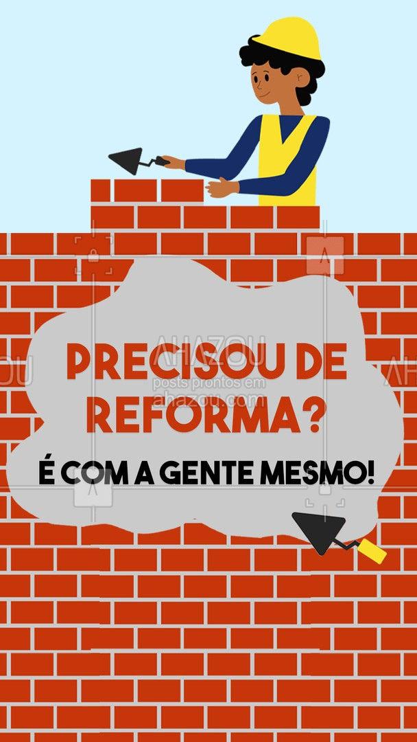Reforma prática e rápida é com a gente! Solicite seu orçamento: ?(preencher) #AhazouImobiliaria #AhazouConstrutora  #construcaocivil #corretordeimoveis #reforma