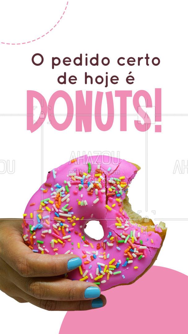 O dia de hoje está pedindo um Donuts! ?  Peça já o seu. #ahazoutaste #donuts  #doces  #confeitariaartesanal  #confeitaria