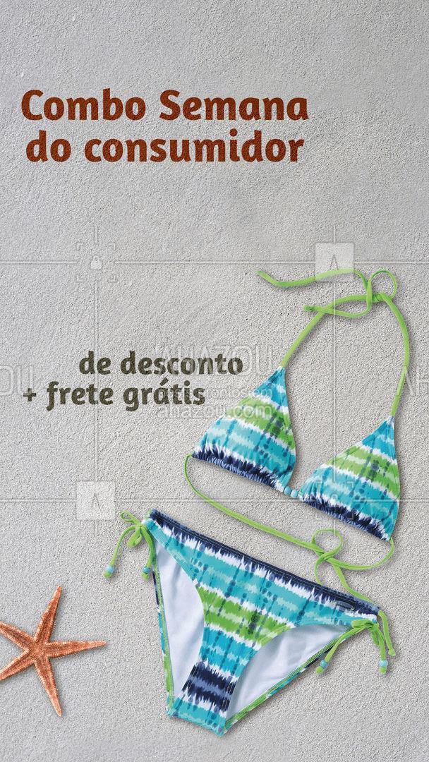 Sua semana do consumidor não podia ser melhor além de (inserir valor) % de desconto na sua compra o frete é grátis. Você não pode perder essa oportunidade! #tendencia #moda #modapraia #summer #AhazouFashion #praia #beach #verao #fashion #AhazouFashion #AhazouFashion #AhazouFashion