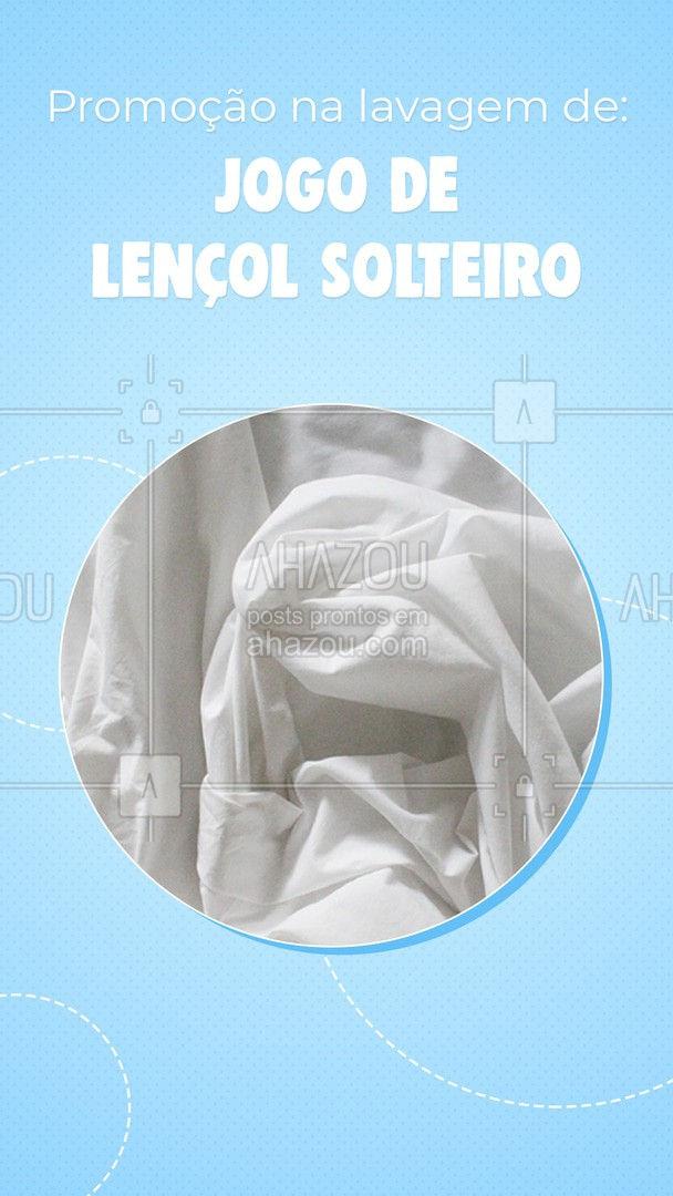 Promoção especial na lavagem do seu jogo de lençol de casal completo, entre em contato e saiba mais sobre a promoção. #promoção #AhazouServiços #lavagem #lençolsolteiro