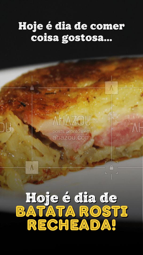 Hoje pode, hein! Aproveite e peça já sua batata recheada! Você vai se surpreender! #ahazoutaste #eat  #ilovefood  #instafood  #foodlovers #batata #batatarosti #batatarecheada #pedido #delivery #convite