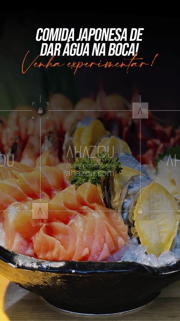 Nossa comida japonesa? Quem prova, aprova! Venha experimentar, você não vai se arrepender! #ahazoutaste #japa  #sushidelivery  #sushitime  #japanesefood  #comidajaponesa  #sushilovers #convite #qualidade