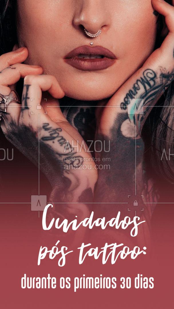 Nossa pele demora cerca de 30 dias para se recuperar totalmente, por isso durante esse período é essencial alguns cuidados para não prejudicar a tatto. Confira nossas dicas! #carrosselahz #AhazouInk  #estudiodetattoo #tatuagem #dicadetattoo #tattoo #tattoos #tatuagemfeminina #cicatrizacao #cuidados #cuidadospostatto