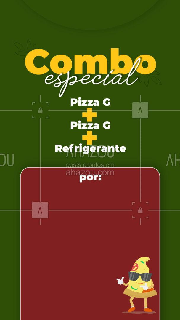 Se liga hoje tem combo especial! Entre em contato e peça já o seu?! #pizzaria #pizza #pizzalife #ahazoutaste #pizzalovers #combo #promoçao #desconto