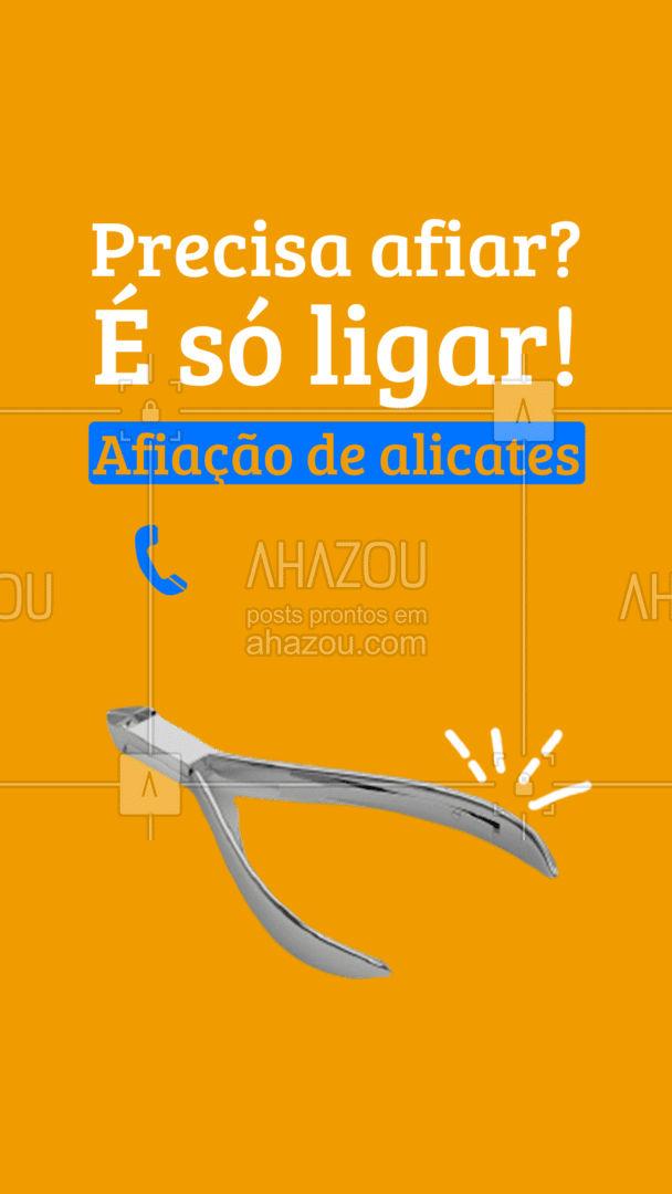 O alicate está pedindo uma afiação? Entre em contato! ☎️(preencher) #AhazouServiços #chaveiro #serviços #alicate #afiaçãodealicates