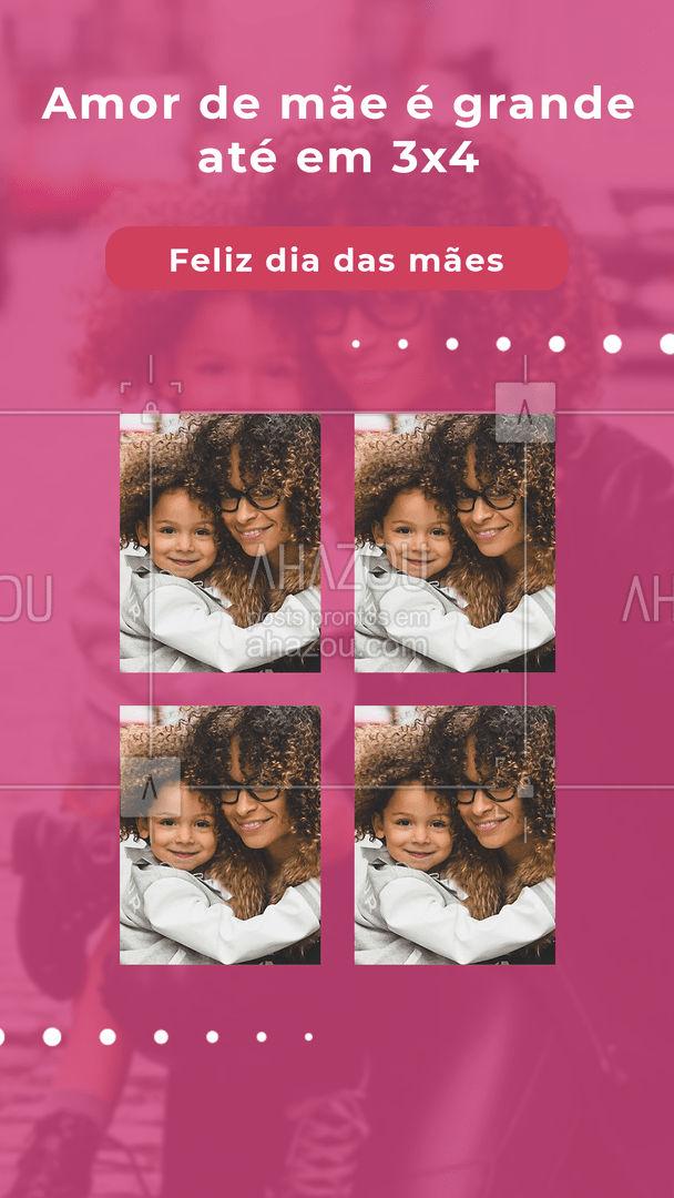 A foto é pequena, mas o amor de mãe não tem limites. Feliz dia das mães. ? #ahazoufotografia #diadasmaes #foto3x3 #fotografia