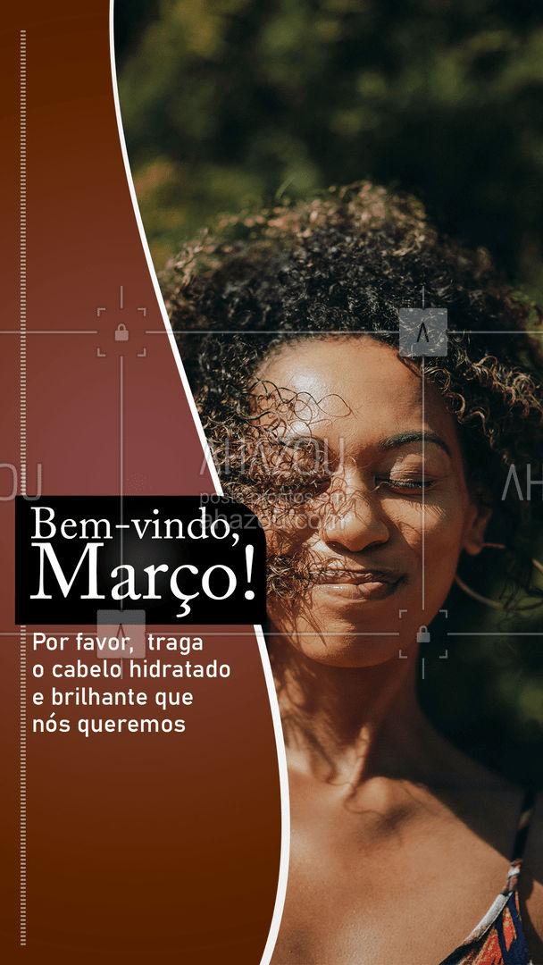 Que Março seja um ótimo mês e traga os cabelos saudáveis que merecemos! ? #cabeleireiro #hair #BemVindo #Março #AhazouBeauty  #cabelo #hidratacao