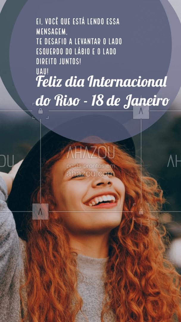 Gostei de ver seu sorriso desse lado aí! A vida com bom humor é sempre a melhor escolha! Feliz dia do Riso! #riso #diadoriso #ahazou