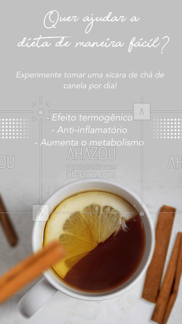 Fácil de fazer e delicioso, esse chá é uma ótima opção para quem está tentando perder peso.  #AhazouSaude  #bemestar #viverbem #nutricao #alimentacaosaudavel #saude #cha  #termogenico