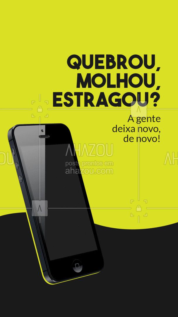 Consertamos seu celular e deixamos ele novinho, de novo! Entre em contato: ?(preencher) #AhazouTec #computador #AssistenciaCelular #assistentetecnico #celular #eletrônicos #celulares #tecnologia #conserto