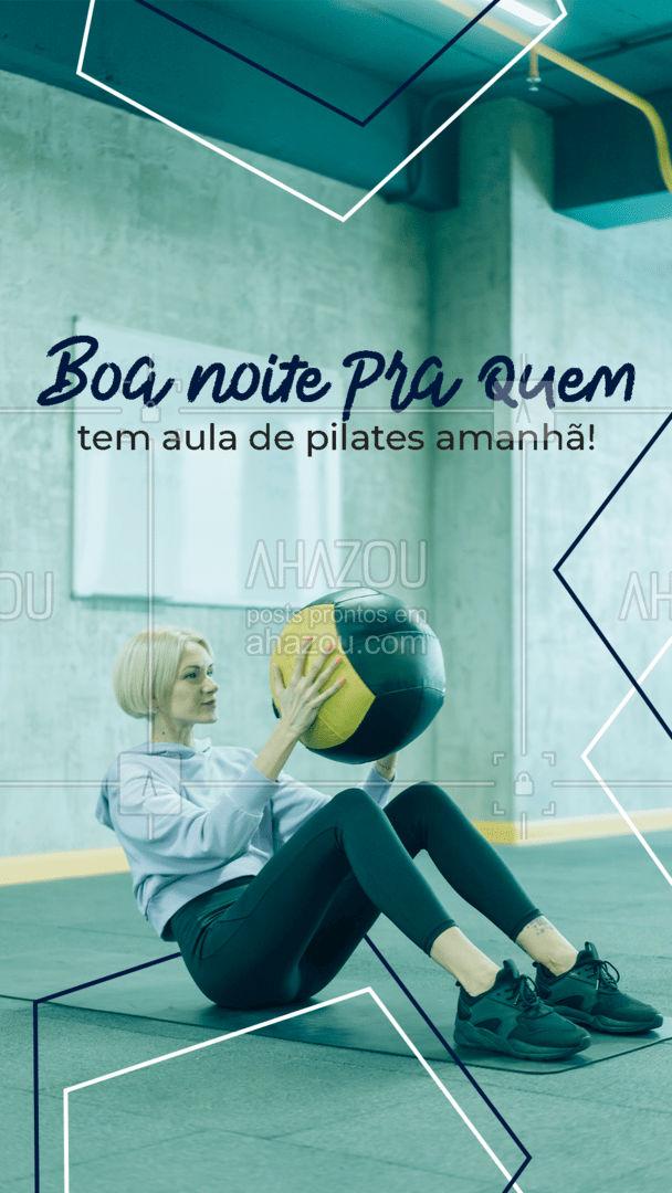 Descanse para amanhã tirar o máximo de proveito da sua aula de pilates. Boa noite!😴 #boanoite #pilates #AhazouSaude #pilateslovers  #fitness  #pilatesbody