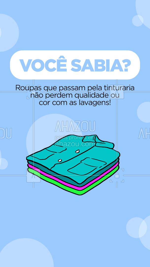 Essa é a principal vantagem de fazer o processo de tintura profissionalmente!  #AhazouServiços  #lavanderia #roupalavada #roupalimpa