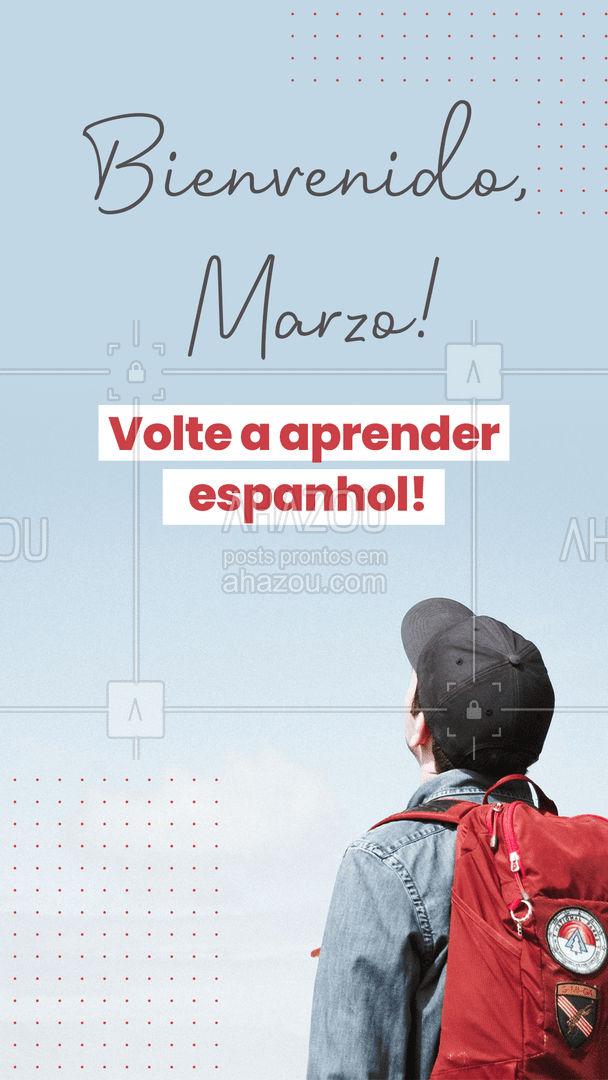 Desafie-se! Comece o mês voltando a investir em você e em sua carreira.  #AhazouEdu  #aulasdeespanhol #dicasdeespanhol  #vocabulario  #idiomas #novoidioma  #aprendizado