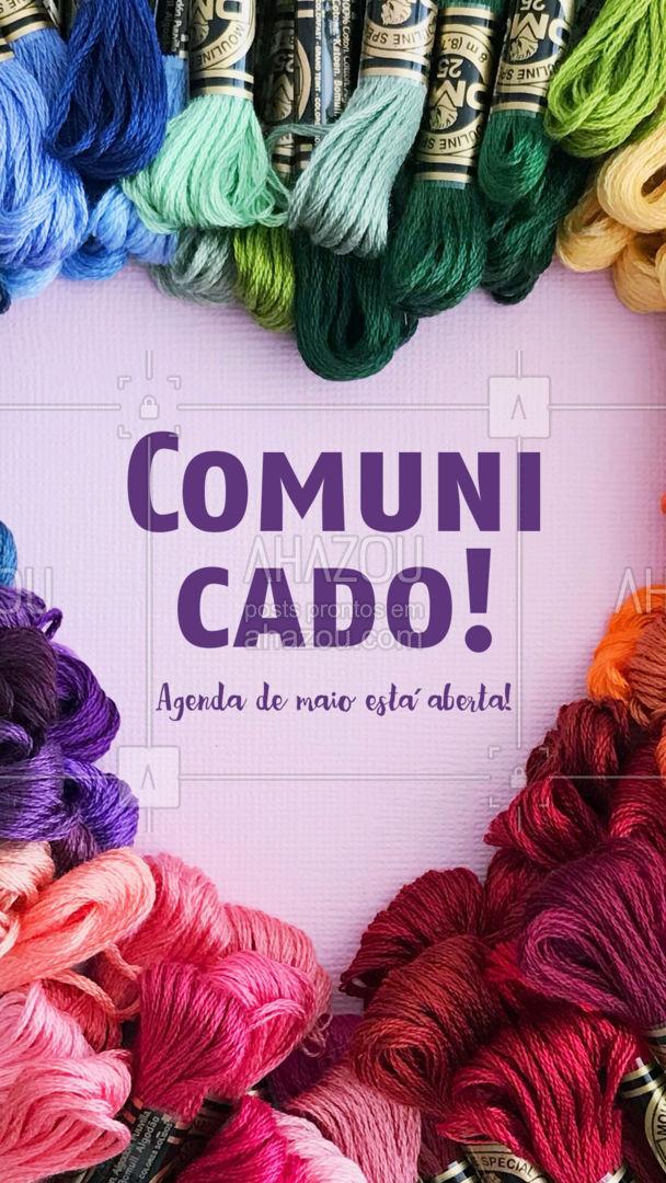 Estamos ansiosos para te atender, marque seu horário!? #AhazouFashion #costureira #reparos #costuraereparos #encomendas #fashion #agendademaio #agendaaberta