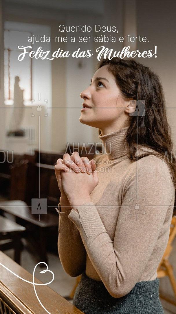 Peça sabedoria a Deus, para enfrentar as provações que lhe são dadas. Feliz Dia das Mulheres! #AhazouFé #deus #gospel #igreja #biblia #jesuscristo #cristo #brasil #palavradedeus