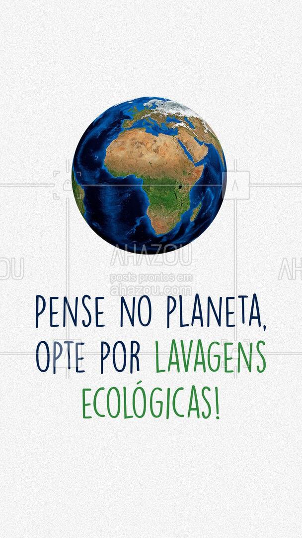 Precisamos pensar no bem do nosso planeta ao realizar desde as tarefas mais simples até as mais complicadas. Por isso nos optamos por lavagens ecológicas. Juntos podemos fazer a diferença! ?? #AhazouServiços  #lavanderia #roupalavada #roupalimpa