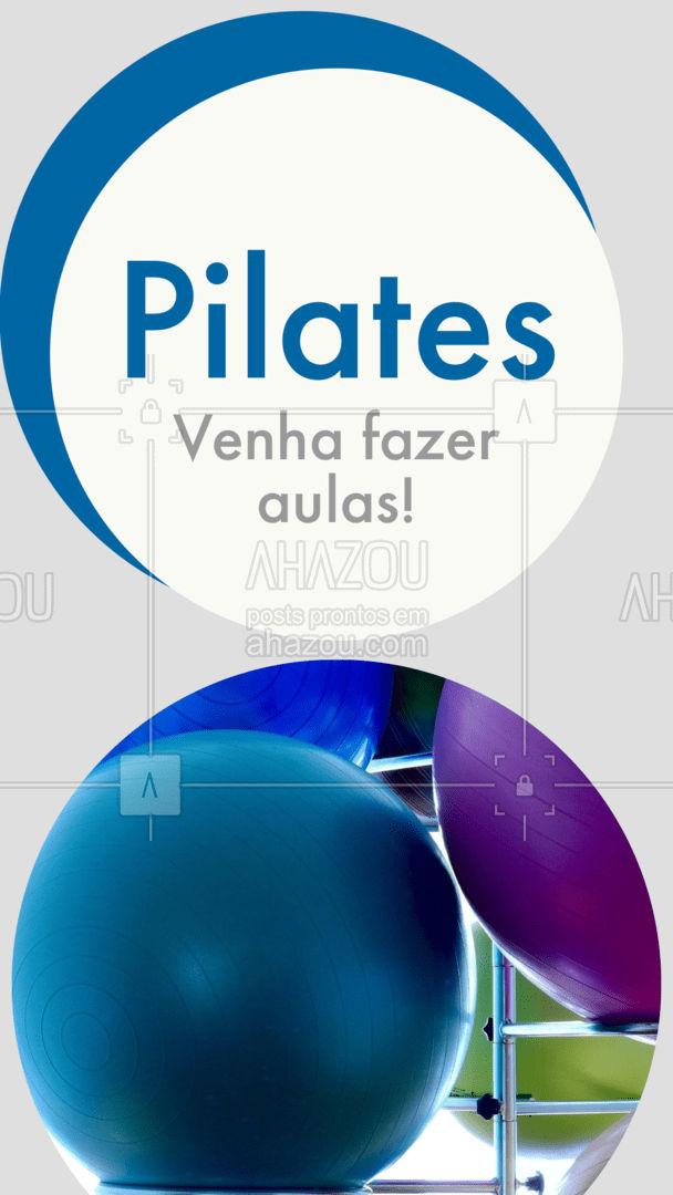 Nossas aulas de Pilates são compostas por exercícios que envolvem o fortalecimento global da musculatura! Venha se encantar com a prática e se apaixonar pelo Pilates! #AhazouSaude  #pilates  #pilatesbody  #workout  #pilateslovers